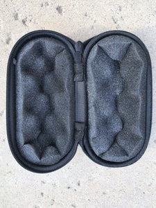 "5"" Brown Padded Pouch Hard Case Protective For Glass Pipe Storage Zipper Travel - Volo Smoke and Vape"