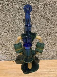"9.5"" Collectible, Best Glass Rig with 2 Honey Comb Perc & 14mm Male Slide Bowl"