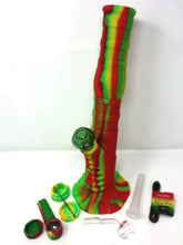 "NEW! Unbreakable Silicone Hookah Water Rig 13"" Tall,Quartz Bucket,Tool,Hemp Wick - Volo Smoke and Vape"