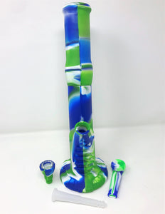 "Unbreakable Detachable Silicone 14"" Bong Ice Catcher Silicone Bowl Silicone Pipe"