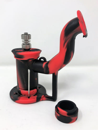 New Portable Silicone Water Pipe Hookah Smoking Pipe Rig+ Spoon tool