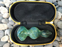 "Glass 3.5"" Handmade Glass Best Hand Pipe with Twisted Handle Zipper Padded Pouch - Volo Smoke and Vape"