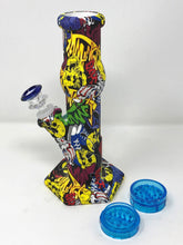 Thick Silicone Detachable Unbreakable Bong Graphics Plastic Grinder Slide Bowl