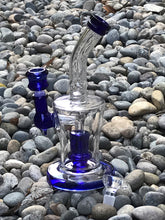 "9"" Thick Glass Shower Percolator Rig with 2 - 14mm Male Slide Bowls"