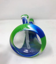 "NEW! Silicone & Glass 10"" Beaker Hybrid Bong Ice catcher 2 - 14mm Bowls"