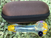 "Fumed Glass 3.5"" Best Hand Pipe zipper Padded Hard Case Pouch - Volo Smoke and Vape"