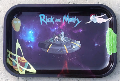 Collectible Rick and Morty Design Metal Rolling Large Tray