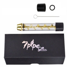 New! Goldtone Tobacco Twisty Glass Blunt w/Cleaning Kit + FREE Grinder - Volo Smoke and Vape