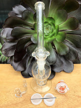 "11"" Glass Pipe Recycler Water Rig + Tool, Container, Bowls - Volo Smoke and Vape"