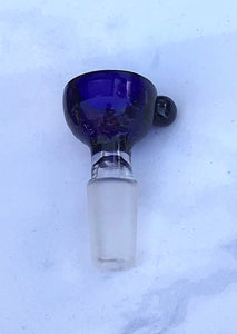 Thick Glass Blue Bowl 14mm Male Slide Bowl
