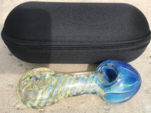 "5"" Fume Swirl TOBACCO Smoking Glass Hand Pipe +Zipper Pouch (Black) - Volo Smoke and Vape"