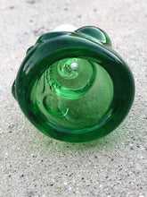 18mm Male Thick Glass Green Skeleton Head Herb Bowl - Volo Smoke and Vape