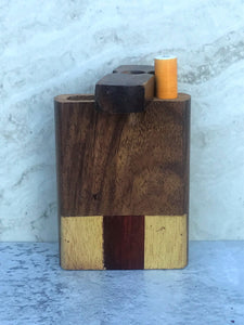 "3"" Decorative Wood Stash Box with Swivel Top - Includes Aluminum 1 Hitter"