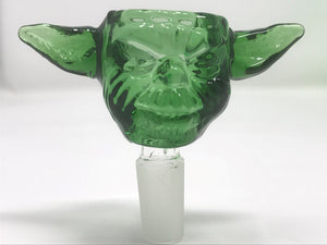 "Unbreakable Silicone Water Rig 13"" Tall, Best Lime Yoda Head Bowl Quartz Bucket - Volo Smoke and Vape"