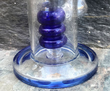 "Thick Glass 10"" Water Rig Shower Perc 2 - 14mm Bowls - Blu n' White"