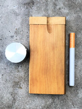 "4"" Solid Wood Tobacco Dugout/Stash Box with Aluminum Bat & Grinder"