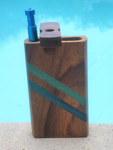 "Dugout One Hitter With Push Down Aluminum Bat 4"" Portable Box"