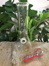 "8"" Glass Beaker Best Water Bong 3.5"" Glass Hand Pipe - Colors Vary - Volo Smoke and Vape"