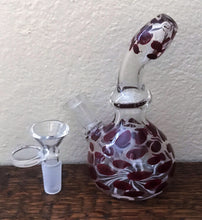 "5"" Mini Thick Glass Bong Pipe w/14mm Male Herb Bowl"