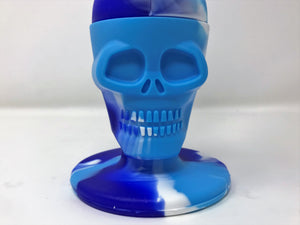 "Silicone Detachable Unbreakable 8"" Skull Bong 2 - Thick Glass Bowls"