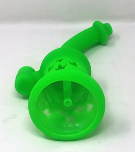 "Best! 8"" Silicone and Glass Rig 14mm Male Slide Herb Bowl"