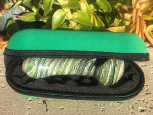 "New Handmade 4.5"" Glass Hand Pipe w/ Zipper Padded Pouch - Volo Smoke and Vape"