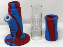 "New 15"" Glass/Silicone Detachable Tree Perc Bong Quartz Bucket & Bonus Extras! - Volo Smoke and Vape"