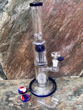 "Best Thick Glass 12"" Rig 8 Arm Tree Perc Shower Perc Quartz Banger + Bowl"
