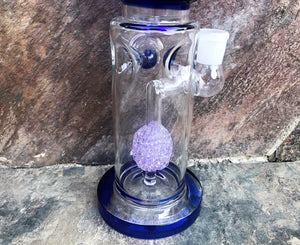 "Best 13"" Thick Glass Water Rig with Fritted Disc Perc, Quartz Banger, 18mm Male Slide Bowl & Ice Catcher + Extras"