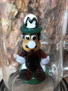"Collectible 11"" Thick Glass Rig w/Super Mario Brothers - Glass Character Inside"