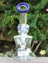 "Quality Clear Glass 6"" Shower Perc Water Bong 14mm Male Slide Bowl"