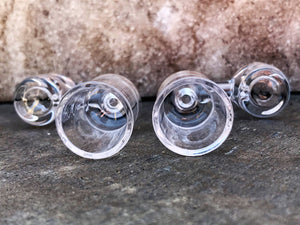 100% Super Thick Bowl 18mm Clear Female 90 Degree (2 Pack)
