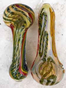 2 Quality Thick Glass Handmade Pipe Hand Rig - Volo Smoke and Vape