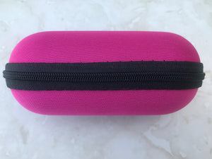 "Pink 5"" Padded Pouch Hard Case Protective Smoking Pipe Storage Carry Zipper"