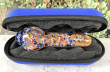 "Thick Fumed Glass Handmade 5"" Spoon Hand Pipe w/Implosion Zipper Padded Case"