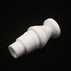 14mm - 18mm Male Ceramic Nail, 2 in 1 Domeless Dab Rig