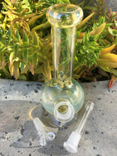 "8"" Tall Water Bong Best Fumed Glass Globe Herb Bowl - Volo Smoke and Vape"