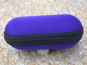 "Lavender 5"" Padded Pouch Hard Case Protective Smoking Pipe Storage Carry Zipper - Volo Smoke and Vape"