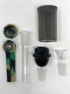 "New Camo 13"" Detachable Silicone Water Bong Silicone Hand Pipe & Bonus Extras! - Volo Smoke and Vape"