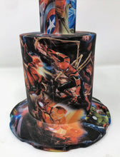 "Thick Silicone Detachable 10.5"" Large Jug Rig Avengers Design Bowl Pop Top Cont"