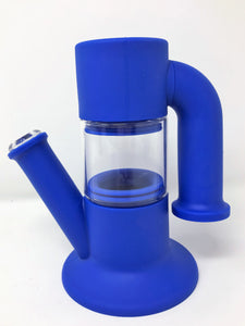 "New 9"" Detachable Glass/Silicone Water Bong 2 Herb Bowls - Volo Smoke and Vape"
