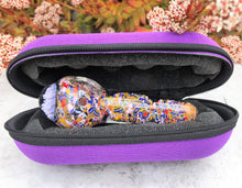 "Thick Glass 5"" Fumed Glass Spoon Hand Pipe w/Implosion Zipper Padded Case"