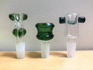 "Elegant! 16"" Lime Green Thick, Heavy Soft Glass Beaker Bong with Ice Catcher & 3 -14 mm Male Bowls"