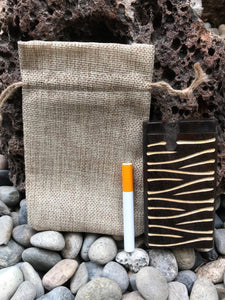 "Best Quality Handmade 4"" Wood Dug out w/Jute bag, One-Hitter Aluminum Bat - Volo Smoke and Vape"