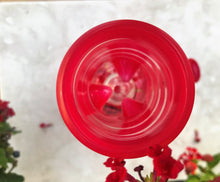 "8"" Red Glass Bong w/ Ice Catchers + Dome Perc & Pink Rim Bowl Slide"