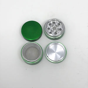 Herb Grinder 1.25 Inch Grinder with Pollen Catcher and Magnetic Lid 4 Piece Green