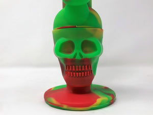 Silicone Skull Detachable Best Water Pipe Bong Silicone Bowl w/Glass Screen Bowl