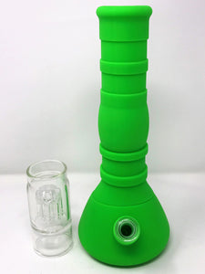 "New 15"" Glass/Silicone Detachable Best Beaker Water Bong Quartz Bucket w/extras - Volo Smoke and Vape"