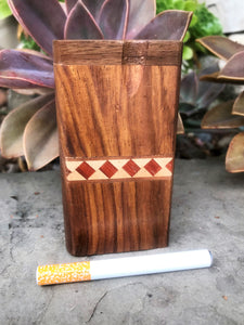 "4"" Quality Wood Tobacco Dugout, Cig One Hitter Bat"
