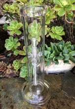 "8"" Straight All Clear Bong Ice Catcher, Slide in Stem with 14mm Male Attached Bowl - Get Yours!"